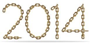 Segno 2014 dell'oro Immagini Stock Libere da Diritti