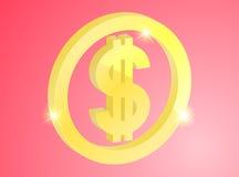 Segno dell'oro del dollaro Immagine Stock