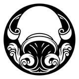 Segno dell'oroscopo dello zodiaco di acquario illustrazione vettoriale