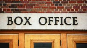 Segno dell'ufficio di casella del teatro Fotografia Stock Libera da Diritti
