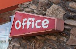 Segno dell'ufficio di metà del secolo Immagini Stock Libere da Diritti
