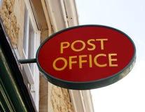 Segno dell'ufficio postale Immagini Stock