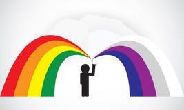 Segno dell'uomo dell'arcobaleno Fotografie Stock