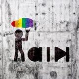 Segno dell'uomo della pioggia Fotografia Stock Libera da Diritti