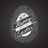 Segno dell'uovo di Pasqua calligrafia del gesso Immagini Stock Libere da Diritti
