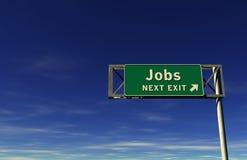 Segno dell'uscita di autostrada senza pedaggio di job Fotografia Stock