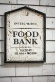 Segno della banca di alimento Fotografia Stock Libera da Diritti