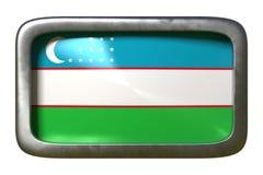 Segno della bandiera dell'Uzbekistan royalty illustrazione gratis