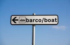 Segno della barca immagine stock