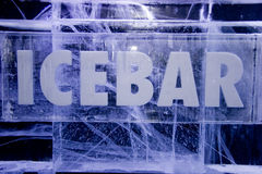 Segno della barra del ghiaccio Fotografia Stock