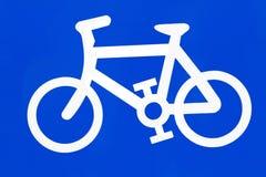 Segno della bici Fotografie Stock Libere da Diritti