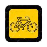 Segno della bici Fotografia Stock Libera da Diritti