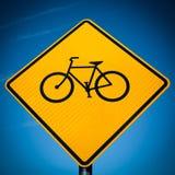 Segno della bici Fotografia Stock