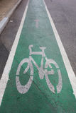 Segno della bici Fotografie Stock