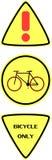Segno della bici, segnale stradale Fotografie Stock