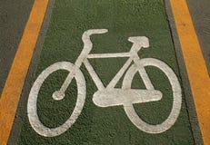 Segno della bicicletta Fotografie Stock