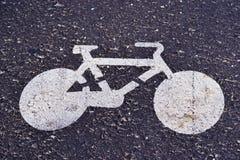 Segno della bicicletta Fotografia Stock