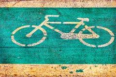 Segno della bicicletta Fotografia Stock Libera da Diritti