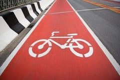 Segno della bicicletta Fotografie Stock Libere da Diritti