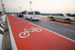 Segno della bicicletta Immagine Stock