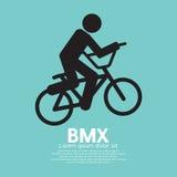 Segno della bicicletta di BMX Fotografie Stock
