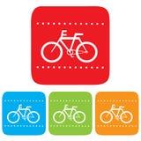 Segno della bicicletta, icona di vettore Fotografie Stock