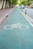 Segno della bicicletta, vicolo per la bicicletta Fotografie Stock