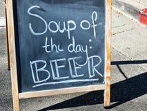 Segno della birra Fotografia Stock Libera da Diritti