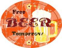 Segno della birra dell'annata, grungy, Immagini Stock Libere da Diritti