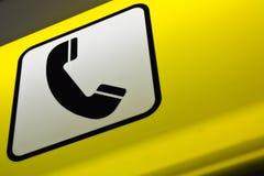 Segno della cabina di telefono Fotografie Stock Libere da Diritti