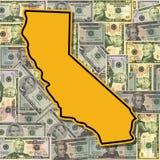 Segno della California con i dollari royalty illustrazione gratis