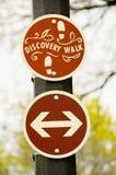 Segno della camminata di scoperta Fotografie Stock Libere da Diritti
