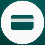 Segno della carta di credito immagini stock libere da diritti
