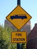 Segno della caserma dei pompieri Fotografia Stock
