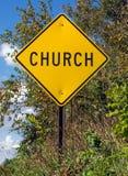 Segno della chiesa Immagine Stock