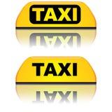 Segno della cima dell'automobile del taxi Fotografia Stock Libera da Diritti