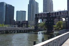Segno della città di Long Island a New York Immagini Stock Libere da Diritti