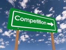 Segno della concorrenza Fotografia Stock Libera da Diritti