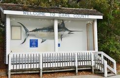 Segno della contea di Dare di benvenuto di North Carolina S.U.A. Immagine Stock Libera da Diritti