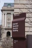 Segno della costruzione di IRS Fotografie Stock Libere da Diritti