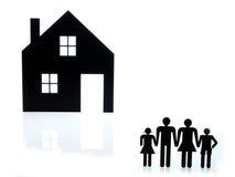 Segno della costruzione domestica e segno della famiglia Fotografie Stock