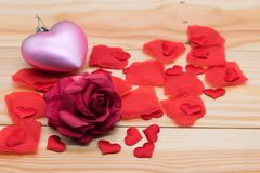Segno della decorazione di amore per la festa del biglietto di S. Valentino Fotografia Stock Libera da Diritti