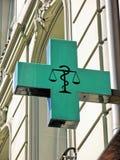 Segno della farmacia Fotografie Stock Libere da Diritti