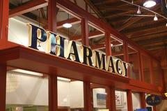 Segno della farmacia Fotografie Stock