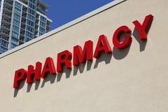 Segno della farmacia Fotografia Stock Libera da Diritti