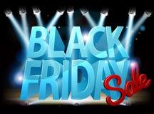Segno della fase di vendita di Black Friday Immagine Stock