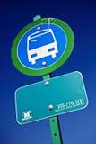 Segno della fermata dell'autobus Immagine Stock Libera da Diritti