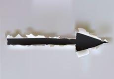 Segno della freccia Fotografia Stock