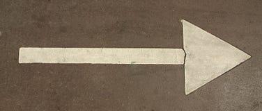 Segno della freccia Fotografia Stock Libera da Diritti