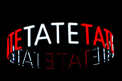 Segno della galleria di arte di Tate Modern Immagini Stock